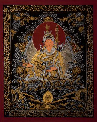 Guru Rinpoche - Handmade Thangka Painting on cott