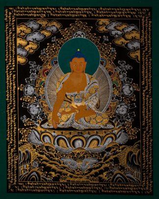 Shakyamuni Buddha - Handmade Thangka painting on c