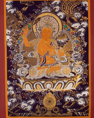 Manjushree - Handmade Thangka Painting from Nepal