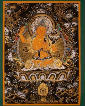 Manjushree - Handmade Thangka Thanka Painting from
