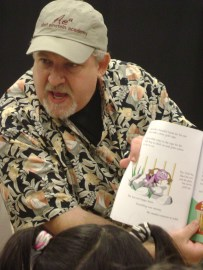 "Reading ""Have You Seen the Tickle Bug?"" at the Kid Expo, Santa Clarita, California."