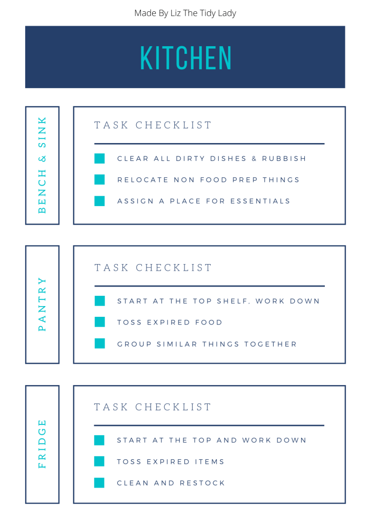 Decluttering checklist, Decluttering Checklist eBook, The Tidy Lady, The Tidy Lady