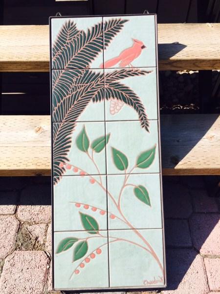 A beautiful backyard tile mural...