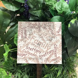 Personalized Word Cloud Garden Tile