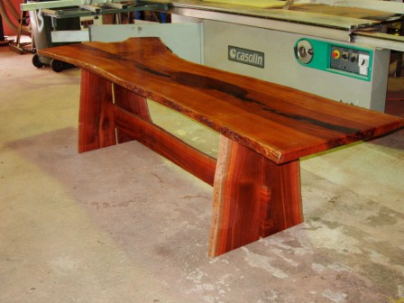 River red gum dining table