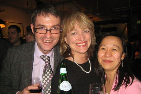 Brian Inkster, Catrin Griffiths and Linda Cheung