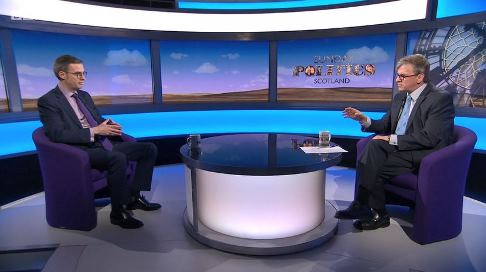 Brian Inkster and Gordon Brewer on Sunday Politics Scotland
