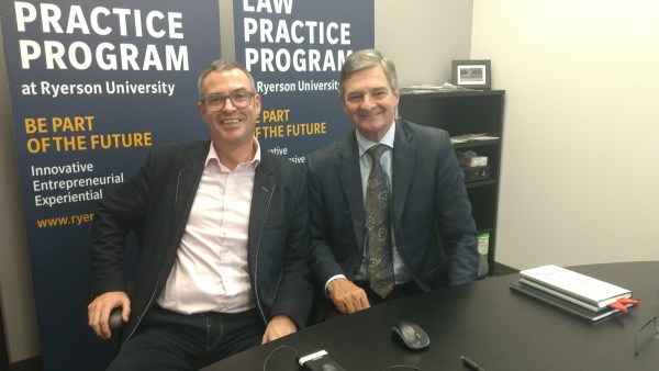 Brian Inkster and Chris Bentley - Ryerson University - Law Practice Programme - Toronto - Canada