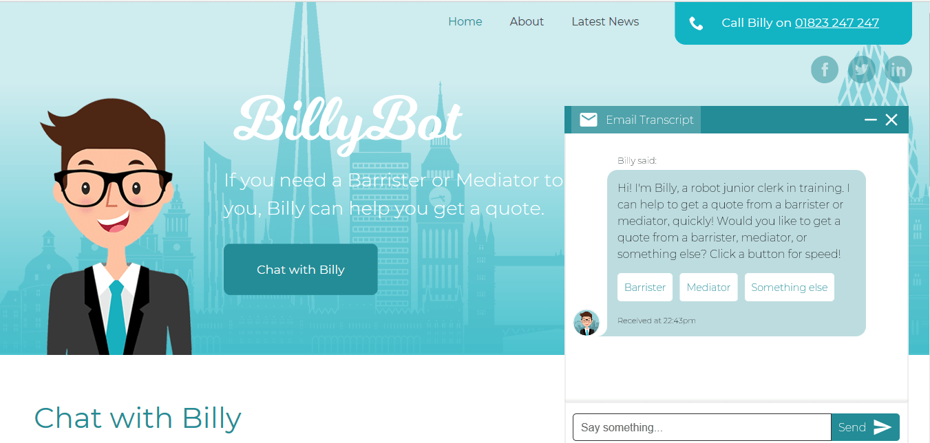 Chats with Legal Chatbots - Billy Bot