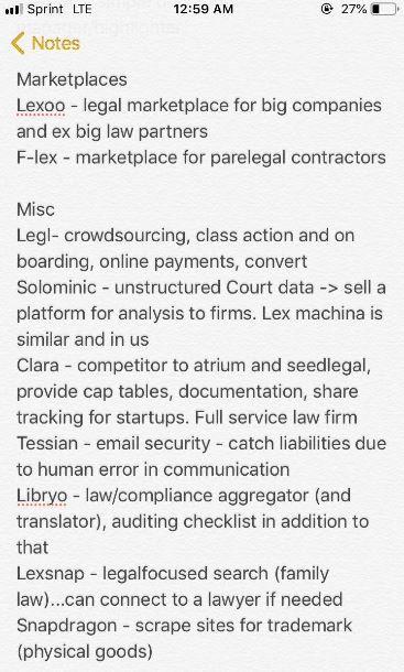 Legal Geek 2019 - Notes on start-ups