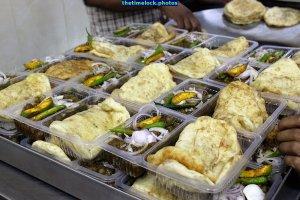 parcel packets being made at Sita Ram Diwan Chand, Paharganj, New Delhi