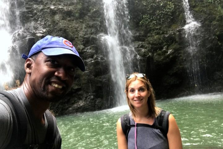 Upper Waikani Falls | Also known as Three Bears Waterfalls
