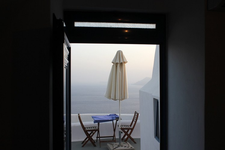 Accommodations Built In to the Cliffs Overlooking the Caldera