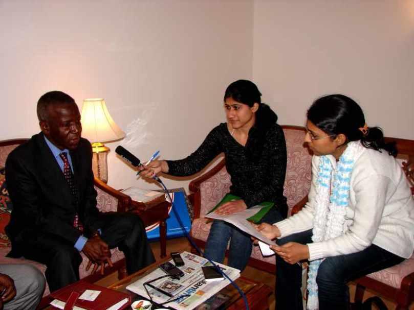 Dr. Edourd Nyankoye Lama (Minister of External Affairs), Guinea Conakry, 21 FEB