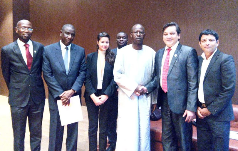 With the Hon'ble Prime Minister of Senegal