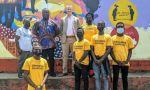 Ambassador Michael McCarthy and Sandra McCarthy visited the West Point township to view a new mural by Monrovian artist Patrick Gono and his team. The mural shows our shared fight against the COVID-19 pandemic and how to prevent a resurgence of it in Liberia.