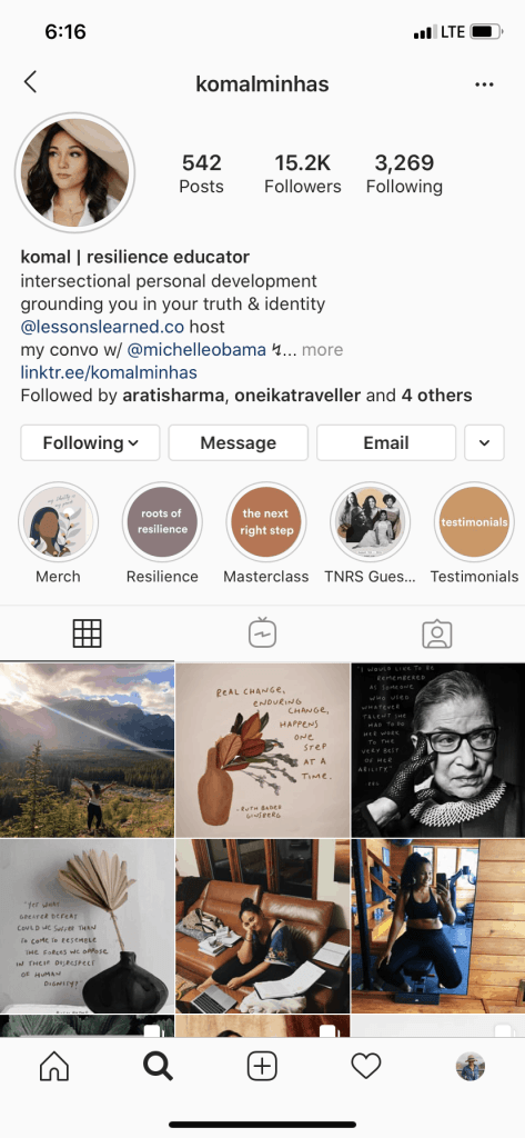 Instagram accounts of people from the Black, Indigenous and People of Color community that I love to follow