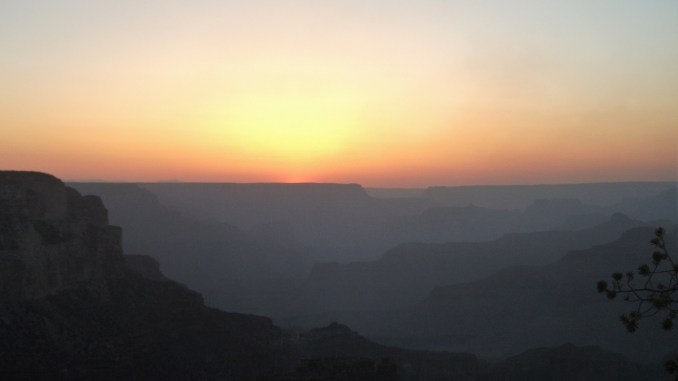 Sunset and the Grand Canyon