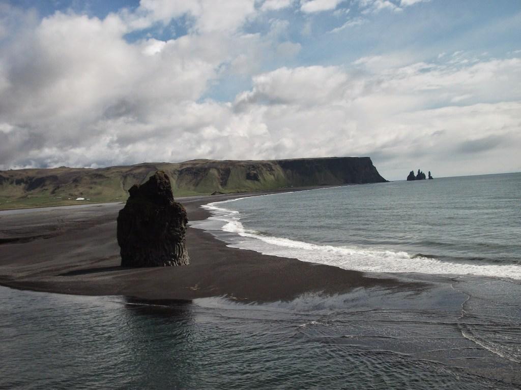 Dyrholaey with the Reynisdrangar rocks along th eSouth Coast of Iceland