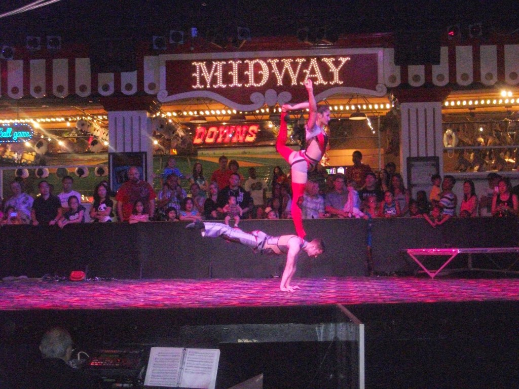 Performers at Circus Circus in Las Vegas