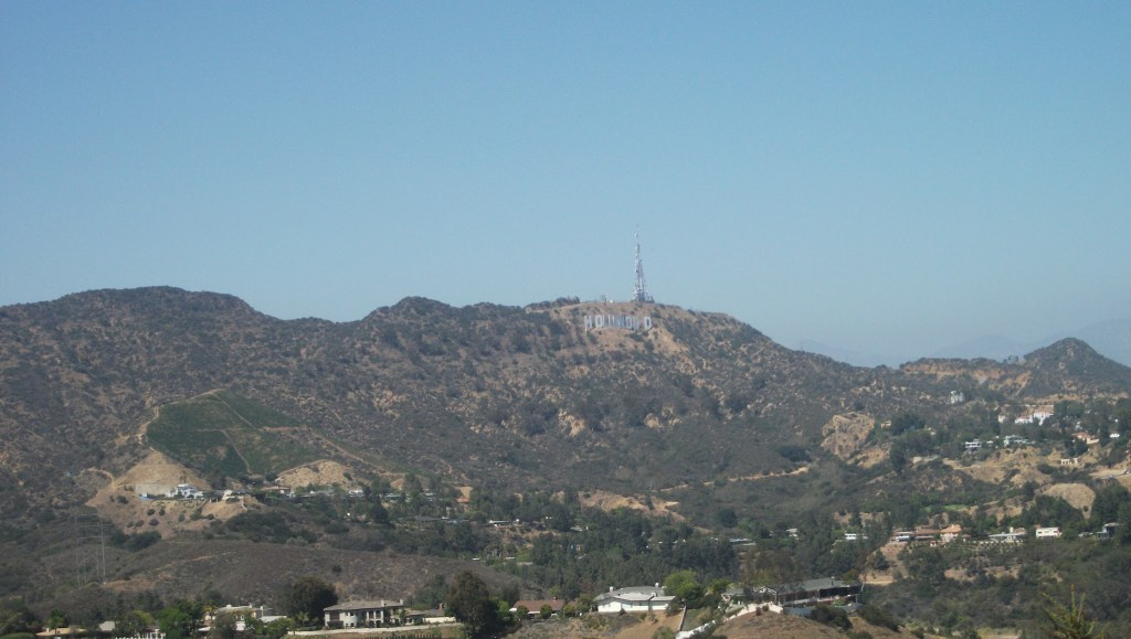 Los Angeles Hollywood Sign...somewhere in the distance