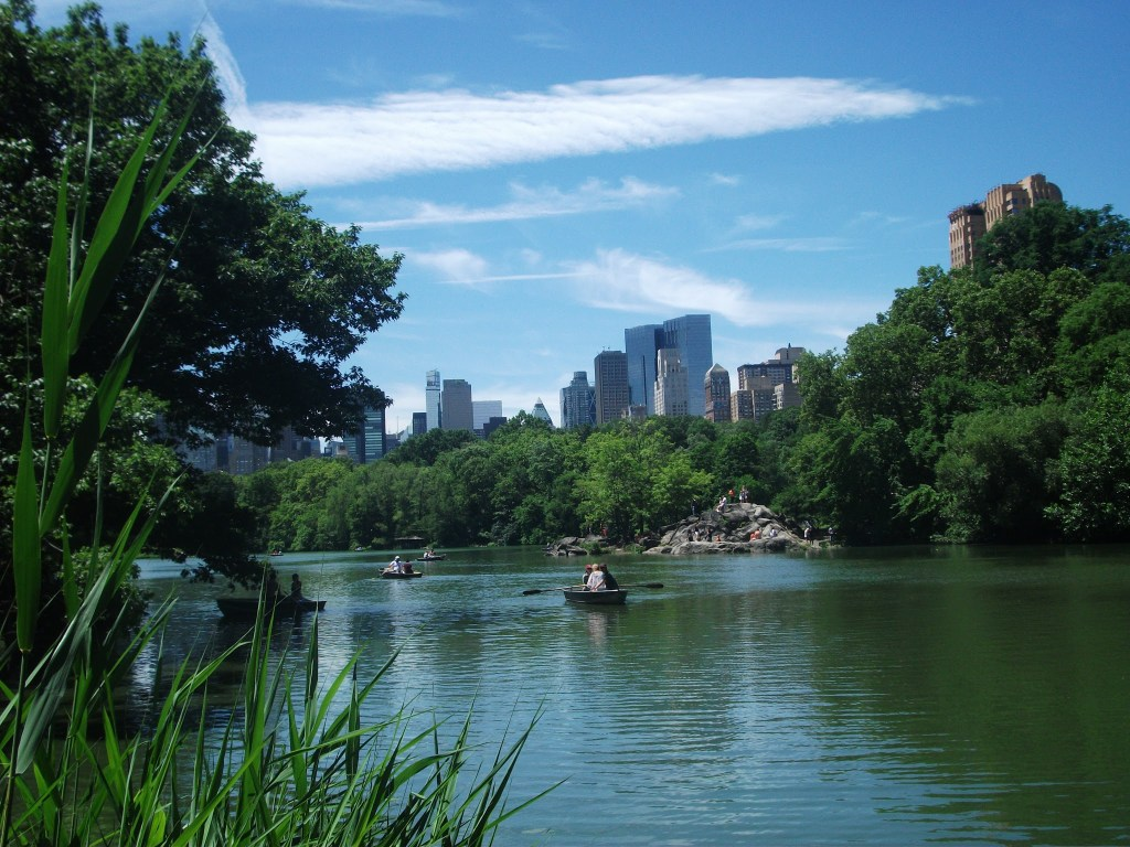 Boating on the Lake in Central Park