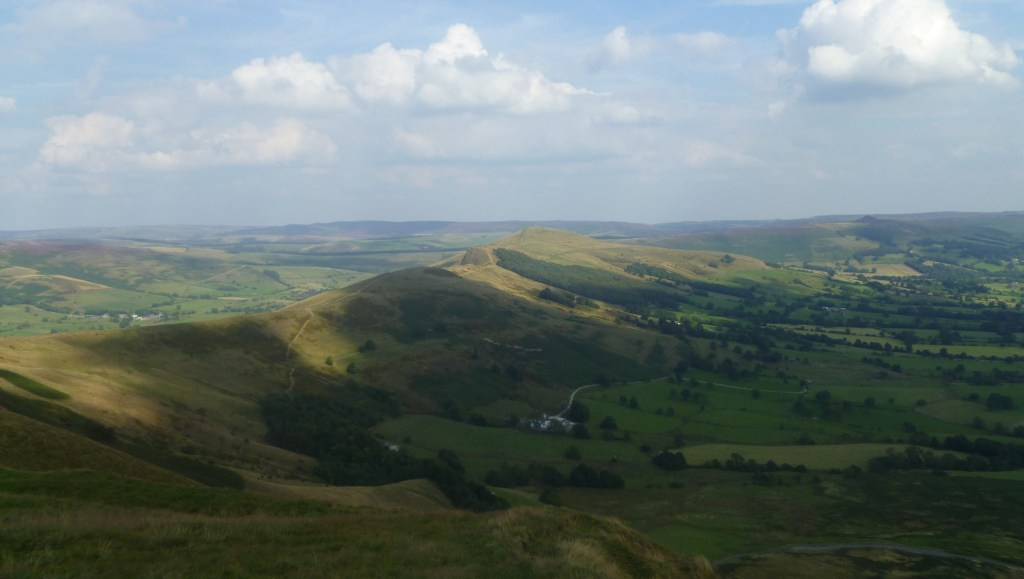 Views across the Peak District from Mam Tor