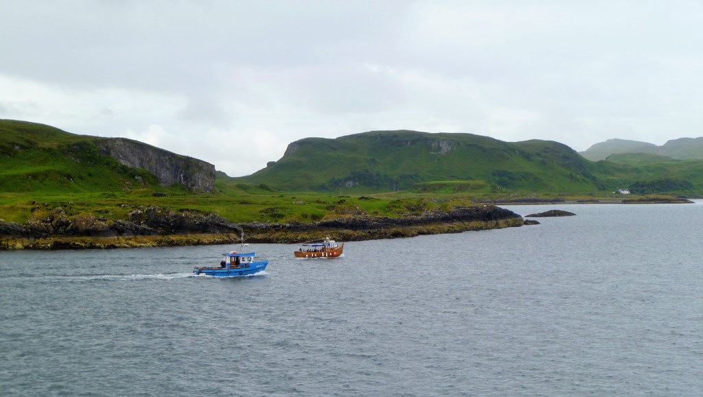 Fishing boats, off the coast of Mull