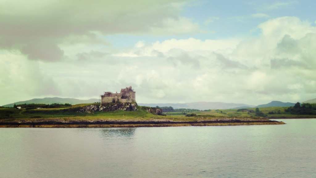 Duart Castle from the ferry to Mull