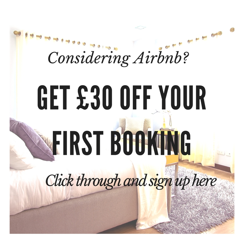 £30 off your first Airbnb