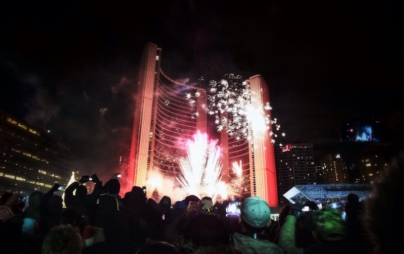 Toronto's New Years Eve fireworks