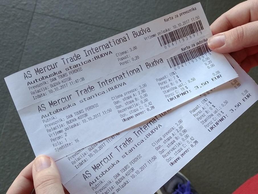 Bus Tickets Budva to Kotor in Montenegro