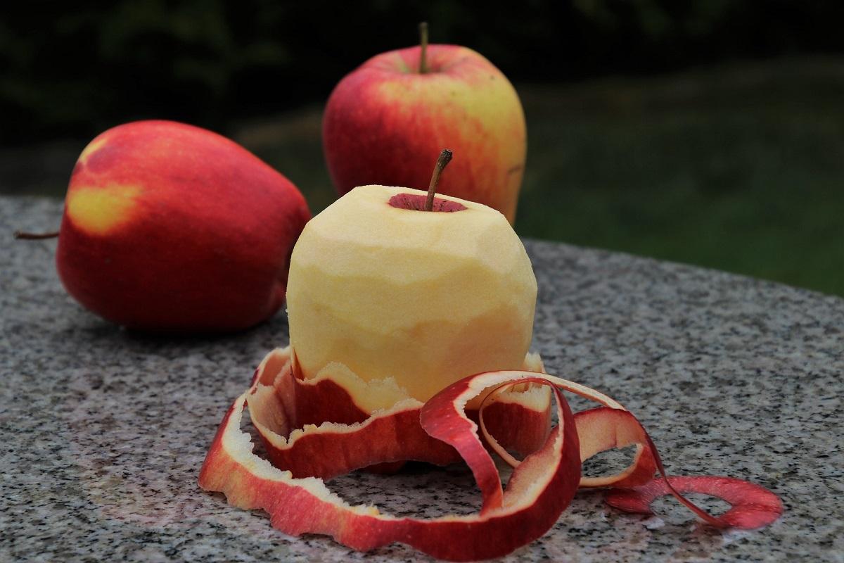 Peeled Apple Skin Halloween Tradition