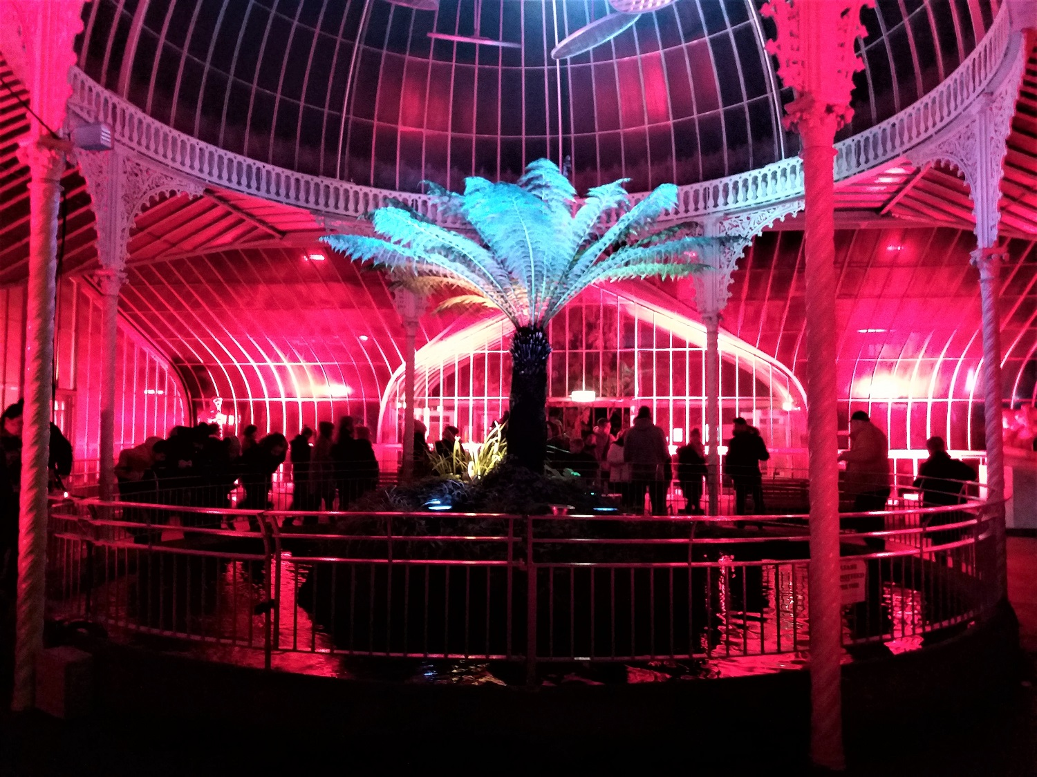 Kibble Palace during GlasGLOW