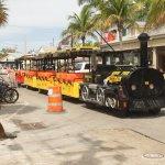 Conch train on Duval Street Key West FL