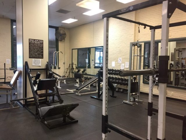 Weight room in the Former Union Pacific Railroad Station Leavenworth Kansas