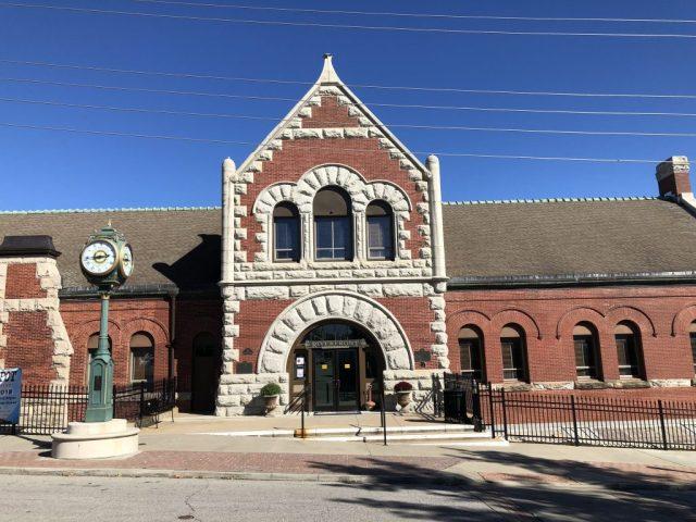 The Former Union Pacific Railroad Station Leavenworth Kansas