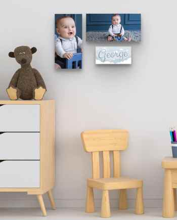 Personalised Newborn Set of 3 Wall Art pieces