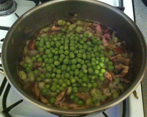 Add peas; cook for 20 mins more.