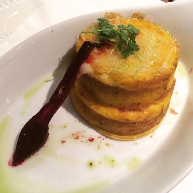 Il cudega Lasagna - delica pumpkin, gorgonzola & sugared beet