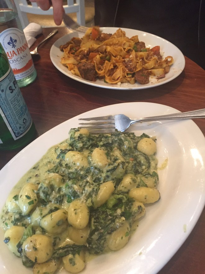 Cafe Citta Cardiff-Gnocchi with dolcelatte & spinach-Tagliatelle with slow cooked beef