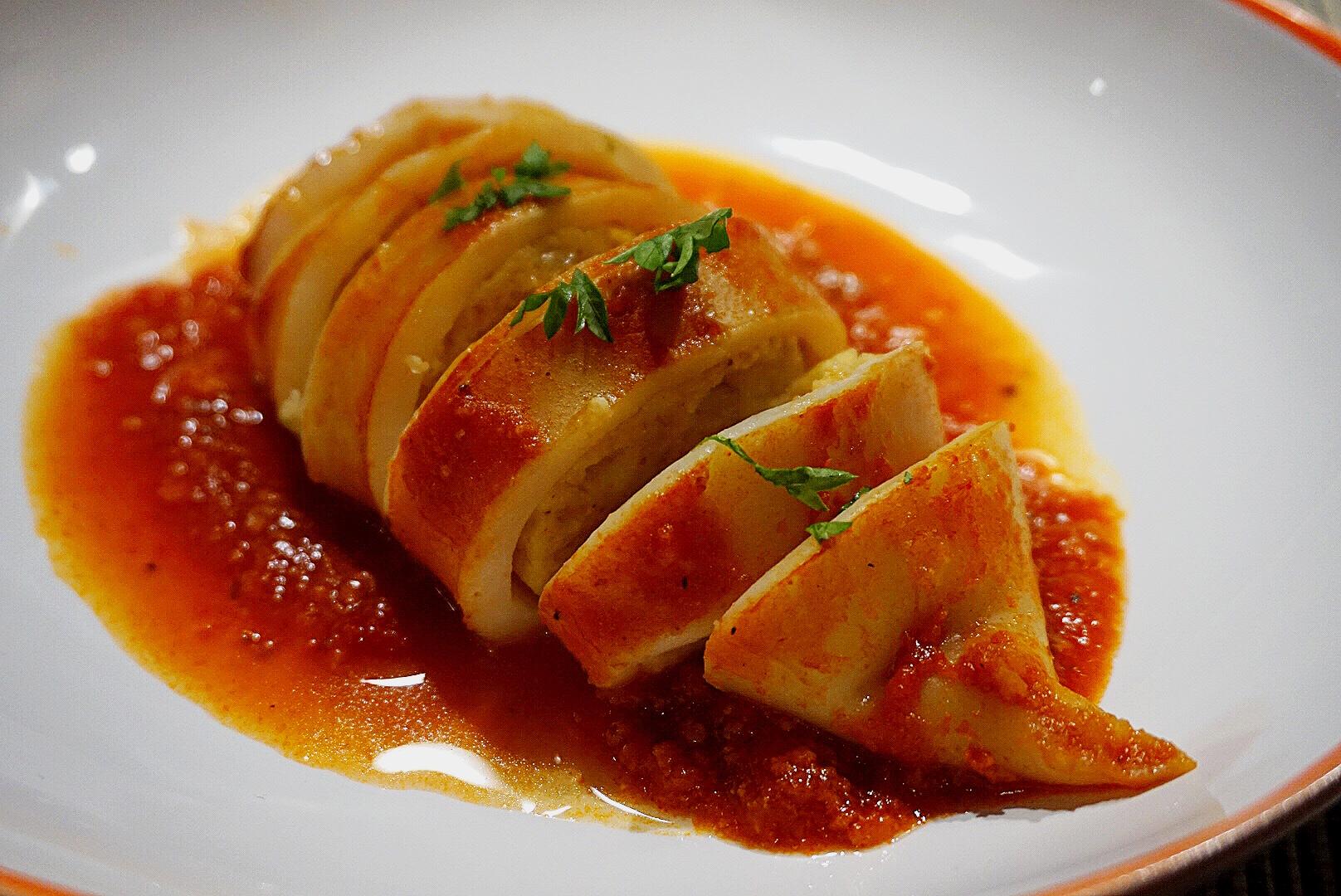 Sorrento Style Mozzarella Stuffed Squid The Tiny Italian
