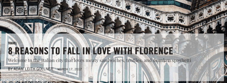 8 reasons to fall in love with Florence