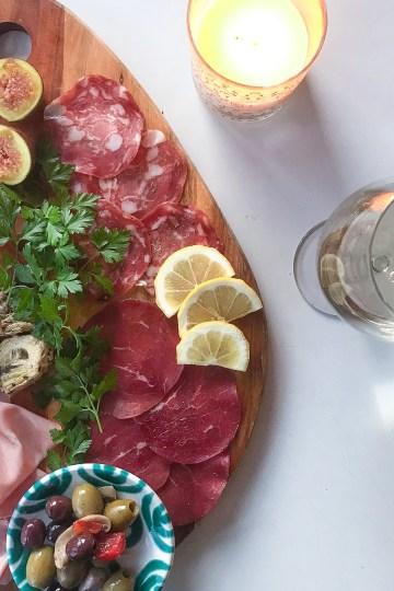 Italian antipasti meat platter