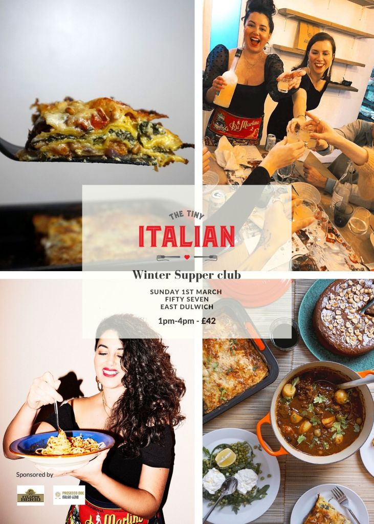 Italian supper club flyer