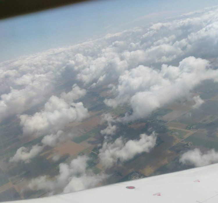 Clouds over the US Midwest from a plane