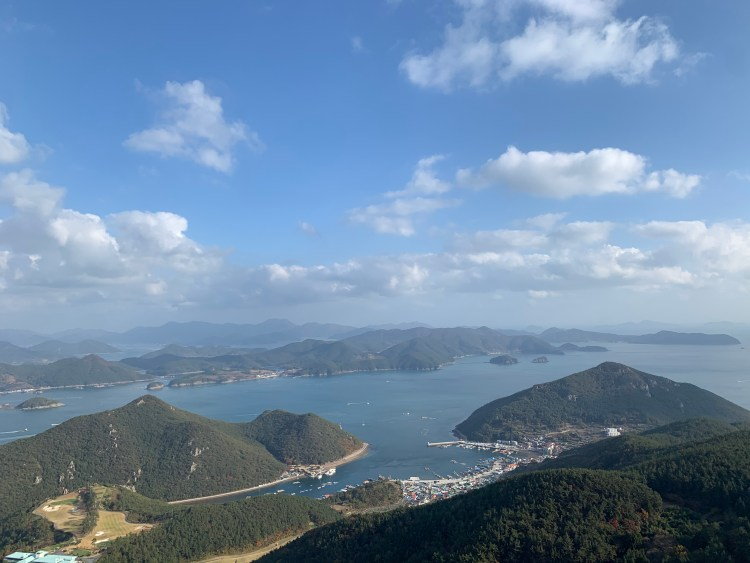 Views from the cable car go in Korea