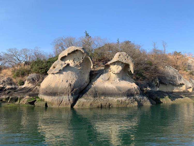 The gatbawi rock formations in Mokpo to go in Korea