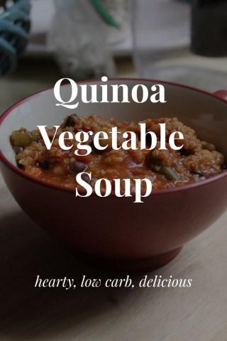 Pin Quinoa Veggie Soup for later!
