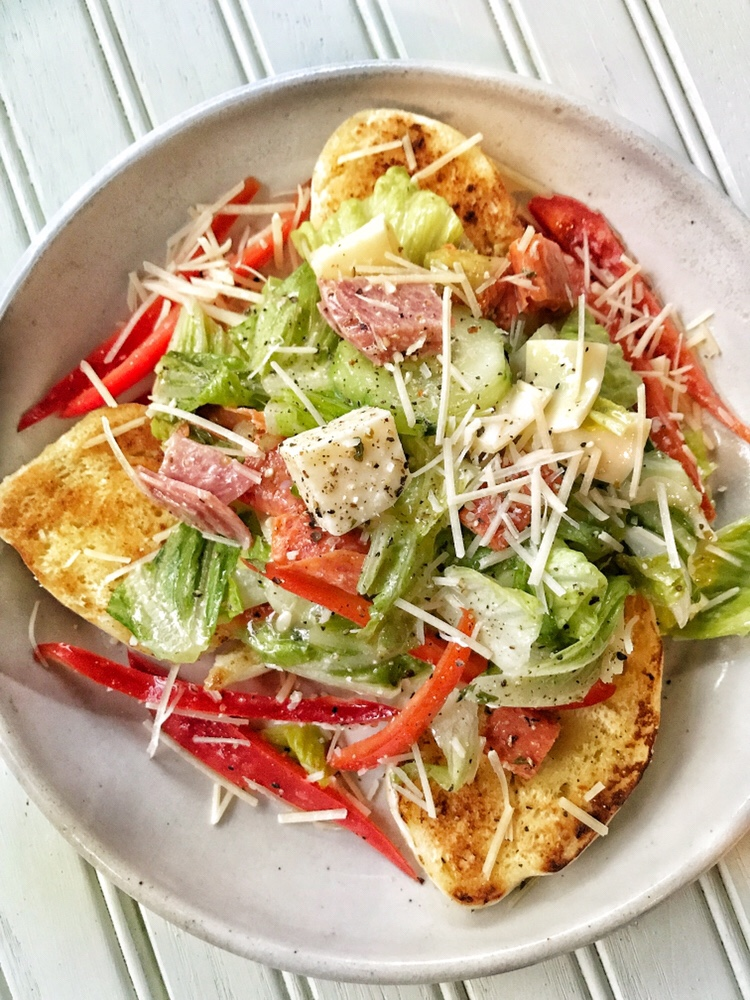 Open Face Italian Sub Salad